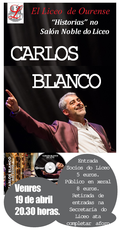 CARTEL CARLOS BLANCO