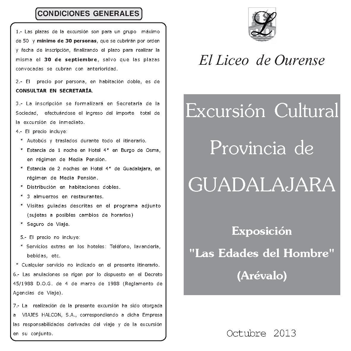 EXCURSION GUADALAJARA