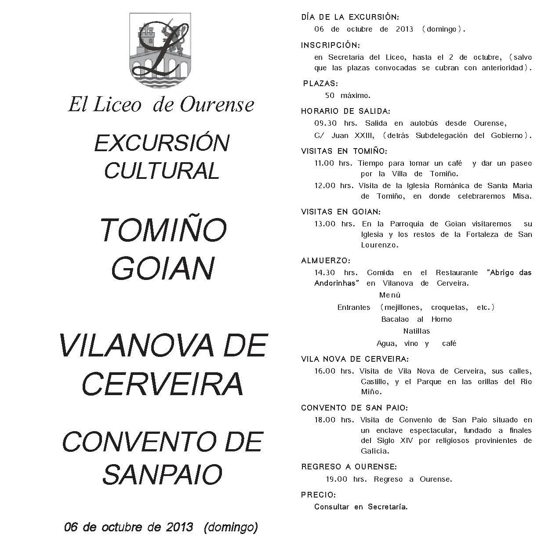 EXCURSION TOMIÑO-VILANOVA CERVEIRA