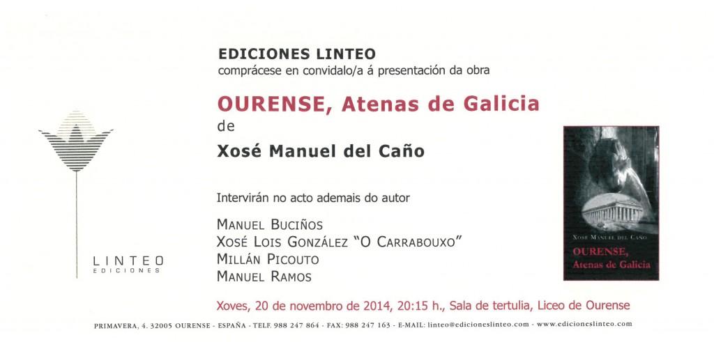 Invitación Ourense, Atenas de Galicia