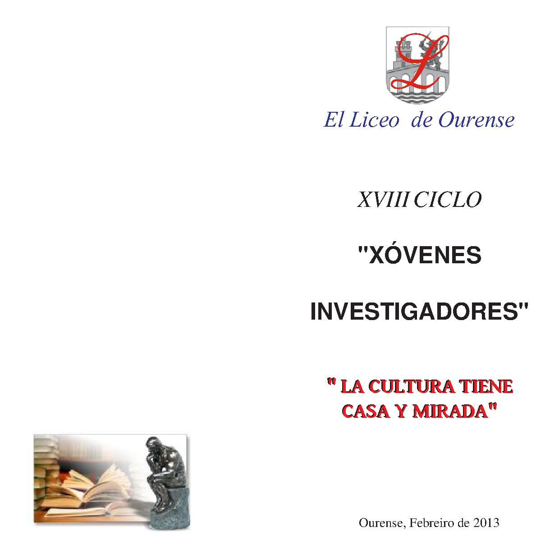 JOVENES INVESTIGADORES