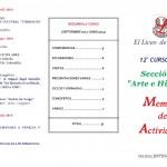 MEMORIA SECCION ARTE E HISTORIA