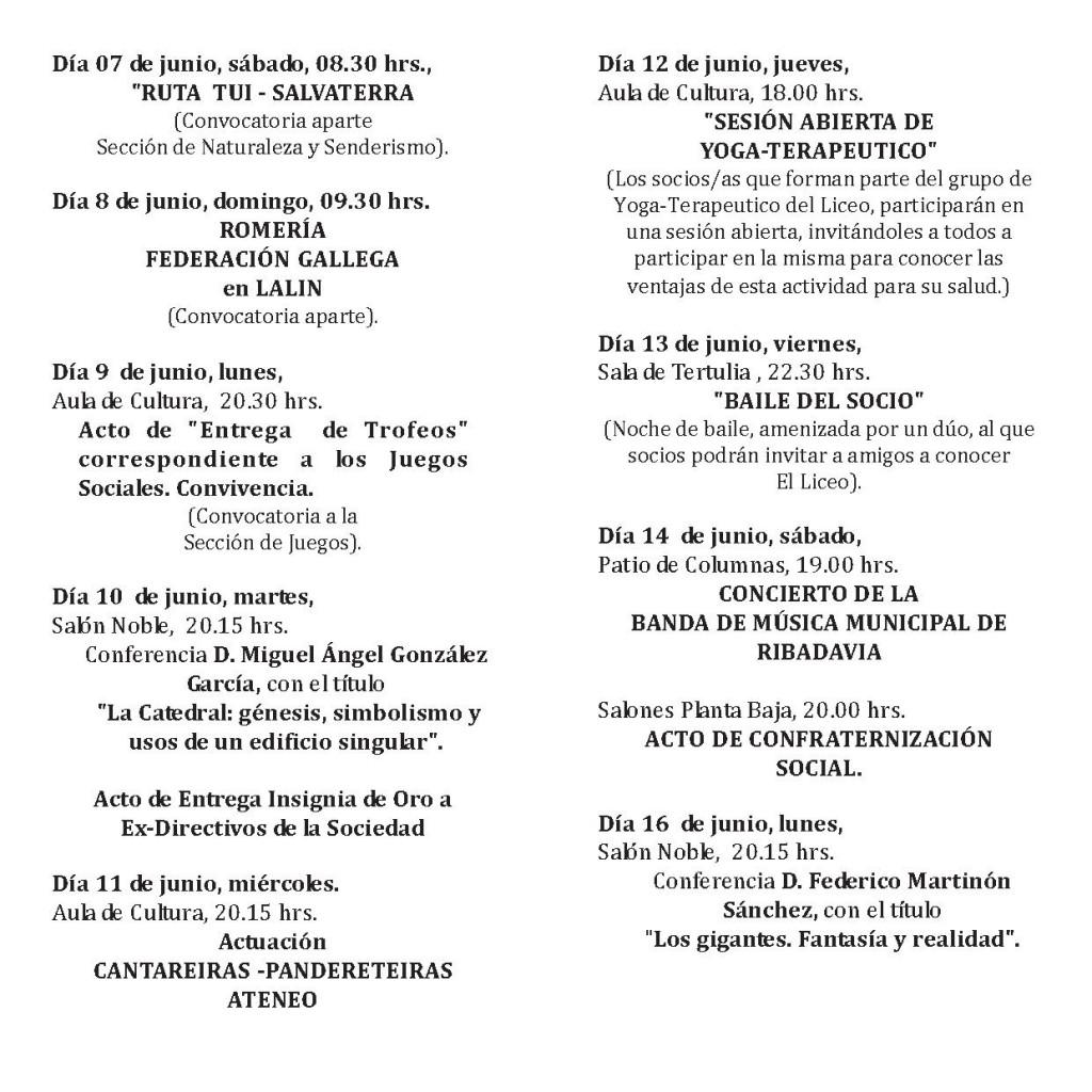 PROGRAMA FIESTAS DEL SOCIO